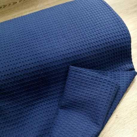 tela de toalla azul marino