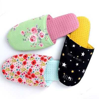 patrón descargable para zapatillas de tela