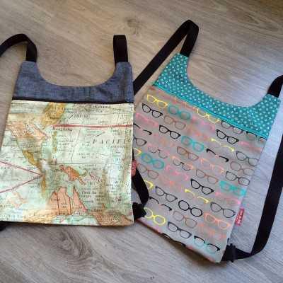 patrón descargable mochila de tela