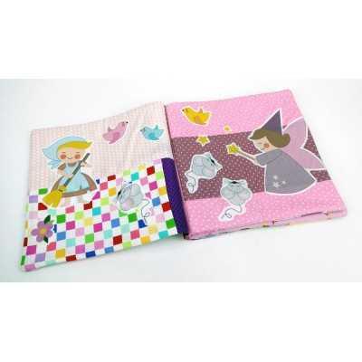 libro de tela infantil de cenicienta