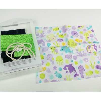 kit para coser una bolsa para ropa, ideal para colegios o guarderías