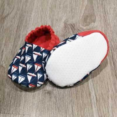 patrón descargable para realizar zapatitos de bebé