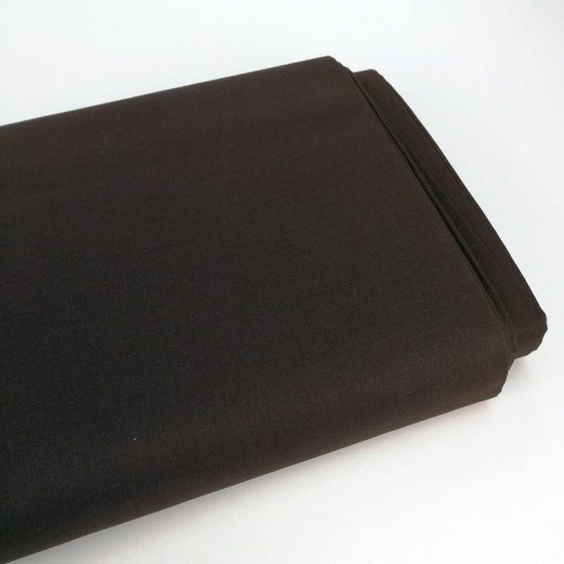 tela lisa de algodón 100% color marron chocolate