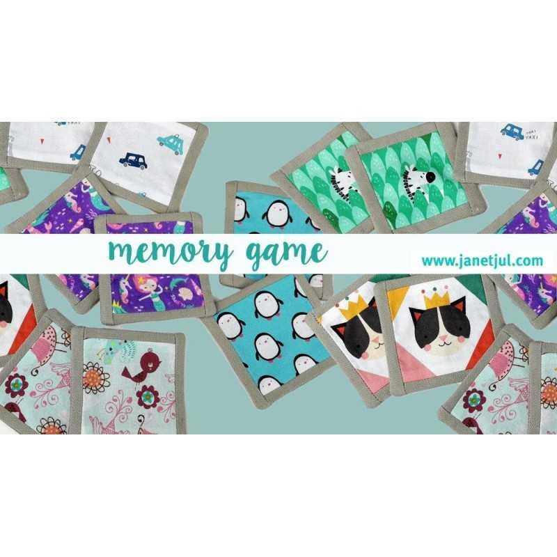 tutorial para coser un juego de memory con telas