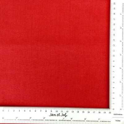 tela de algodón lisa de color rojo