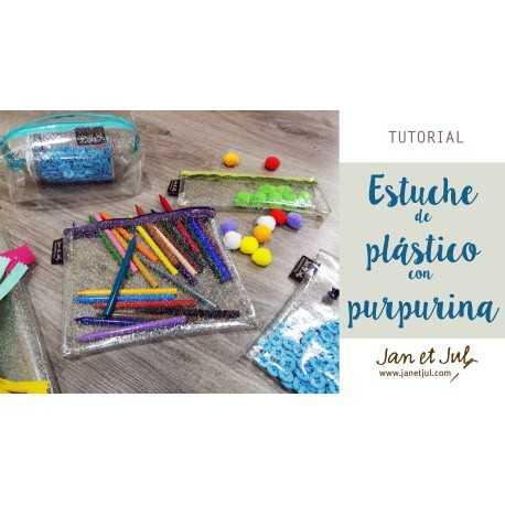 tutorial como coser un estuche con cremallera y plástico para coser