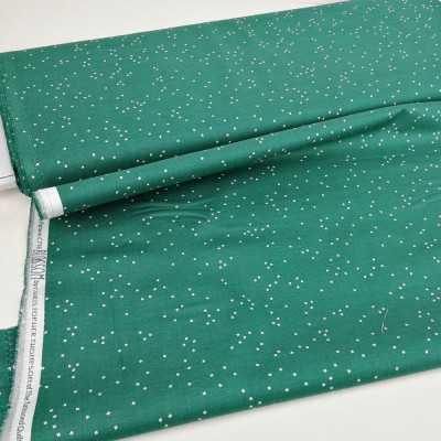 Tela algodón verde jade