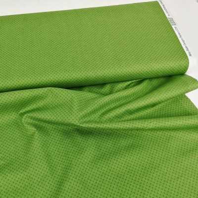Tela verde de algodón