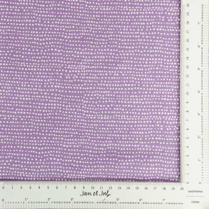 Tela lila de algodón