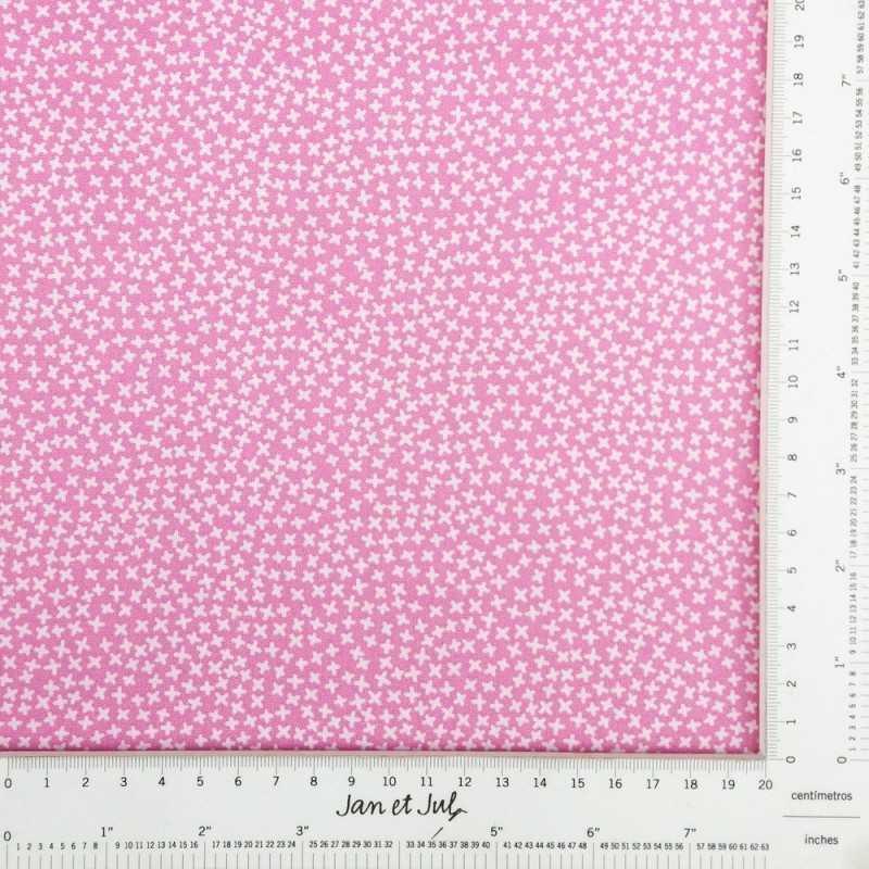 Tela de algodón rosa