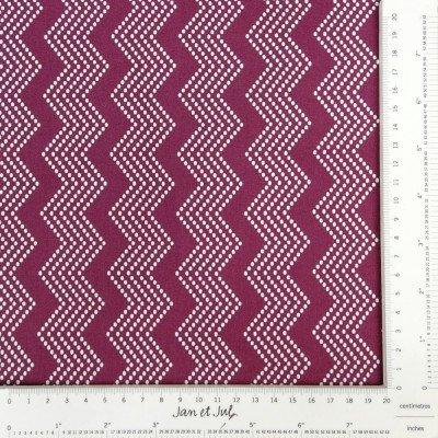 tela Purple Mono Chevron
