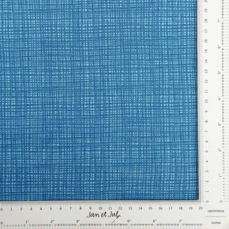 Tela de algodón con textura azul