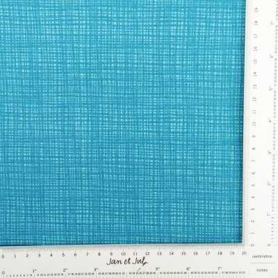 Tela rayada en azul turquesa