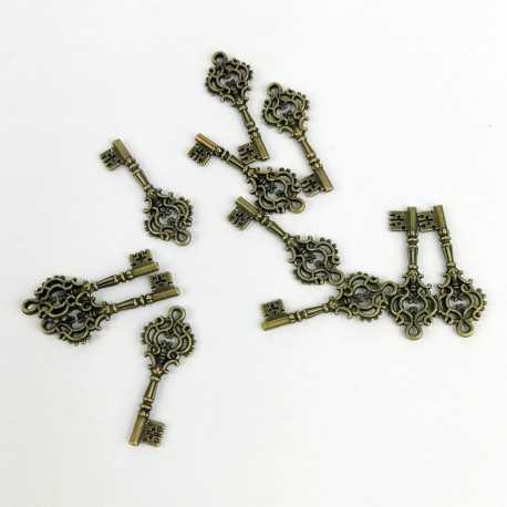 Charm de una llave de estilo antiguo