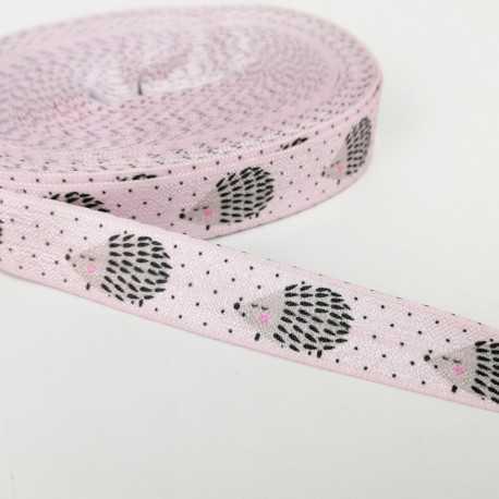 Goma elástica con erizos en rosa
