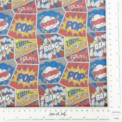 tela de algodón con símbolos de cómics