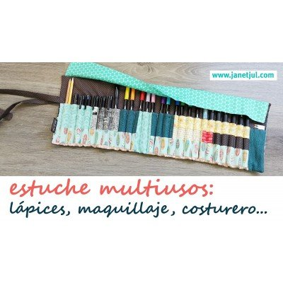 tutorial estuche enrollable con solapa