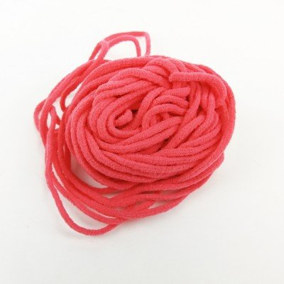 Goma elástica de 3mm redonda ideal mascarillas. Color coral