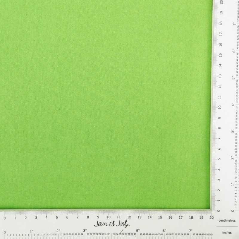 Tela lisa de algodón en color lima o pistacho