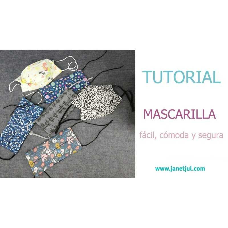 tutorial para aprender a coser mascarillas de tela paso a paso