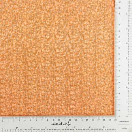 Tela naranja de algodón