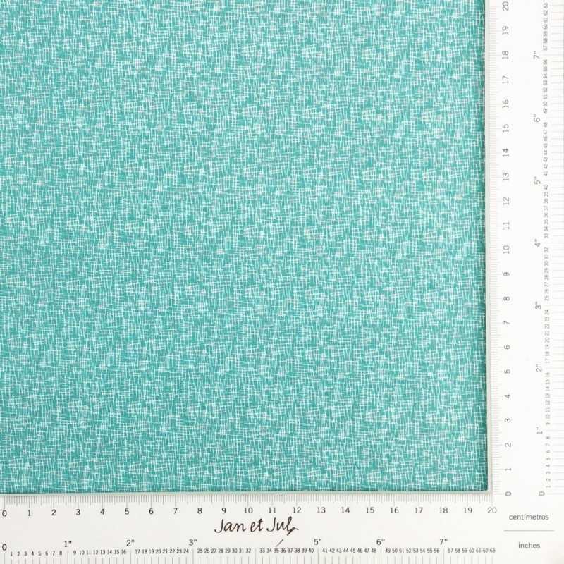 tela de algodón hashtag small teal