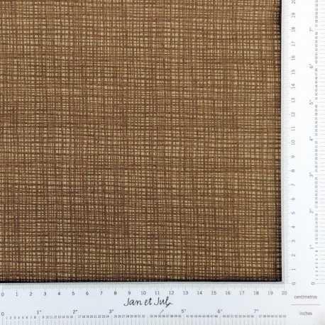 Tela marrón con líneas