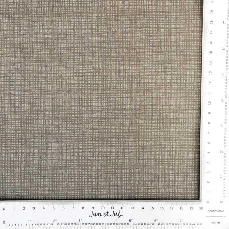 Tela de algodón color marrón grisáceo