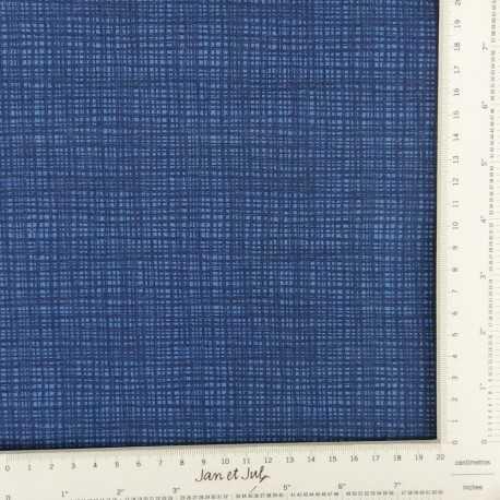 Tela de algodón azul marino