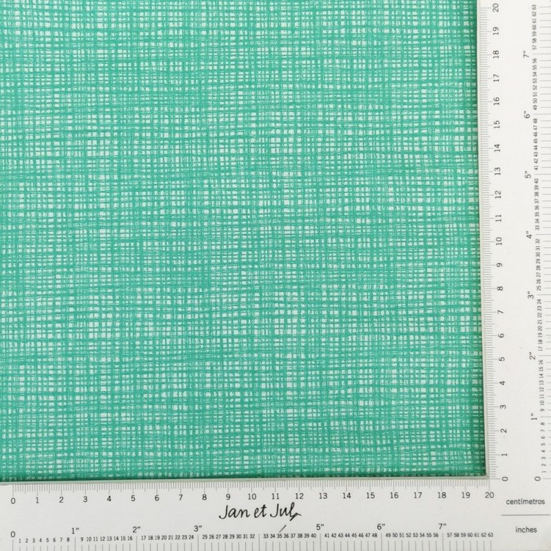 Tela básica de algodón en verde agua