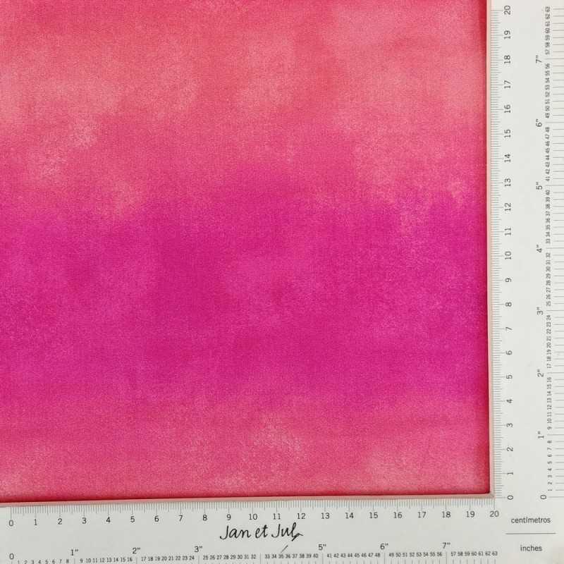 Tela algodón con degradado en rosa y coral