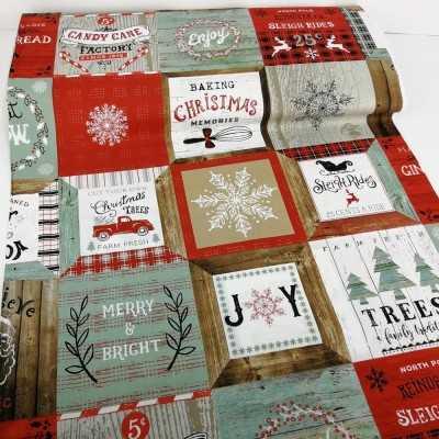 Tela de algodón navideña