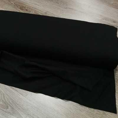 tela de Sudadera reciclada para confeccion de color negra