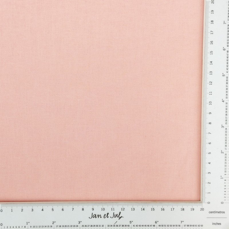 Tela lisa de algodón color pastel melocotón