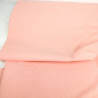 Tela lisa de algodón color rosa suave pastel