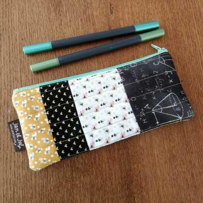 Estuche de tela ideal para aprender costura creativa y colocar cremalleras
