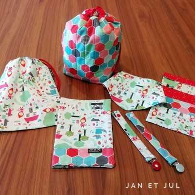Proyectos varios realizados por Jan et Jul con la tela de caperucita