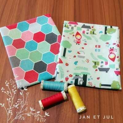 Combinación de telas de caperucita diseñada por Jan et Jul