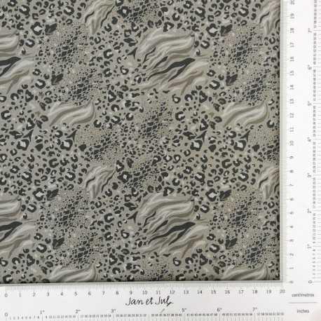Tela de algodón de estilo de piel de animal