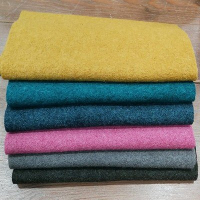 Combinación de telas de lana 100%