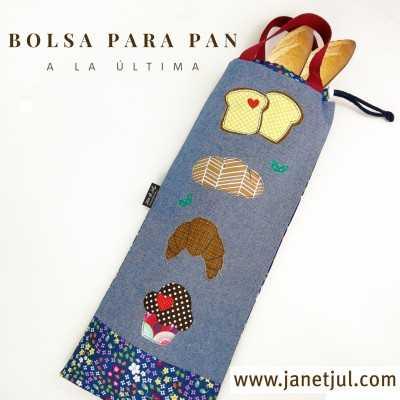 Patrón descargable para coser una bolsa para el pan