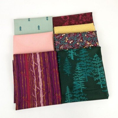 Combinación de telas de la colección Foresta