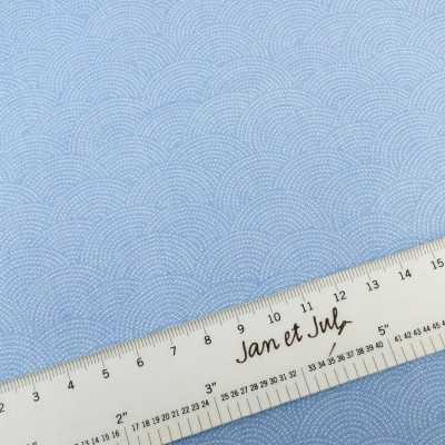 Tela azul de algodón americano de estilo japonés