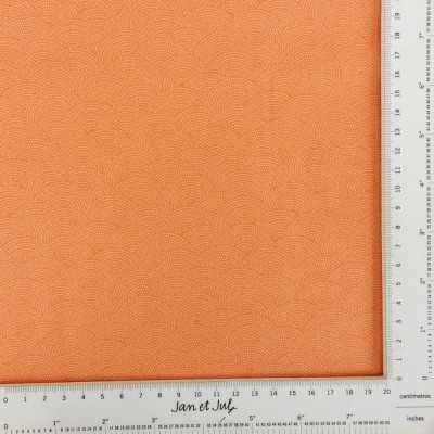 Tela algodón en naranja