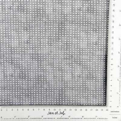 Tela algodón básica con topos mini en gris