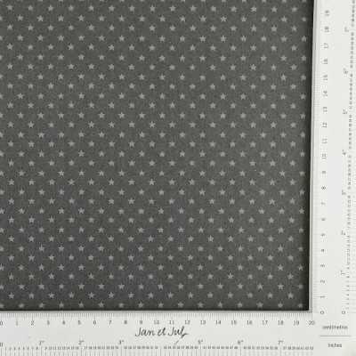 Tela gris oscuro con estrellas mini
