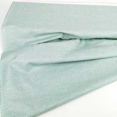 Tela de algodón con topos irregulares en azul grisáceo