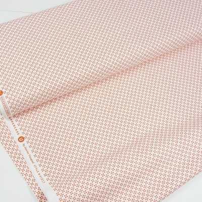 tela de algodon blanca y naranja