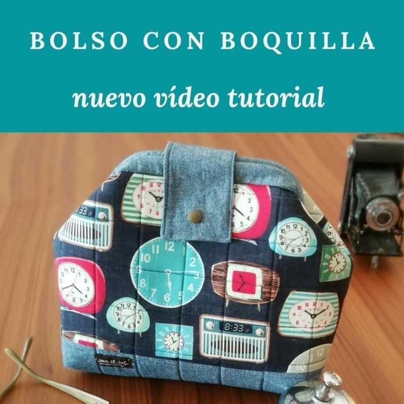 tutorial aprende como coser un bolso con boquilla interior tubular desmontable