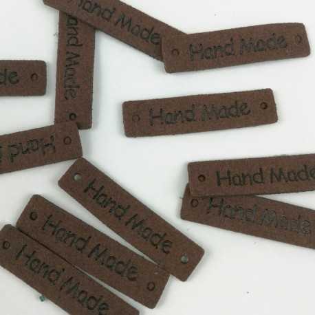 Etiquetas de piel de color marrón para proyectos diy
